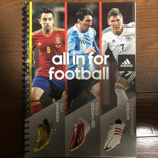 アディダス(adidas)のadidas フットボールノート(ノート/メモ帳/ふせん)