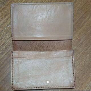 ムジルシリョウヒン(MUJI (無印良品))の無印良品 イタリア産ヌメ革カードケース(名刺入れ/定期入れ)
