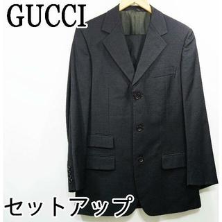 グッチ(Gucci)のGUCCI グッチ 最高級 スーツ パンツ セットアップ 黒 ストライプ(セットアップ)