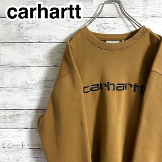 カーハート(carhartt)の【超人気】カーハート☆刺繍ビッグロゴ ブラウン スウェット トレーナー(スウェット)