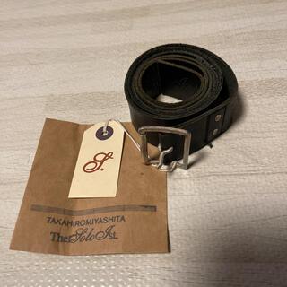 コムデギャルソン(COMME des GARCONS)の人気品! タカヒロミヤシタザソロイスト ベルト ブラック 黒 S カウハイド 革(ベルト)