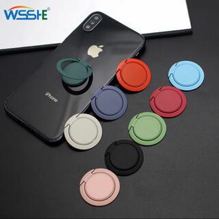 アップル(Apple)の【特価/高性能】薄さ3mm 磁石 スマホリング 白(iPhoneケース)