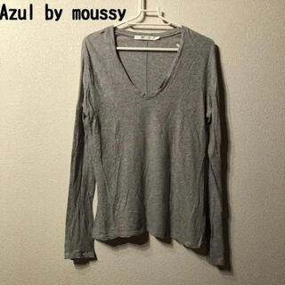 アズールバイマウジー(AZUL by moussy)のAzul by moussy カットソー トップス 長袖 S グレー(カットソー(長袖/七分))
