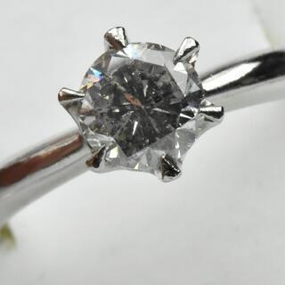 【鑑別】Pt900 一粒 立爪 0.907ct ダイヤモンドリング 11.5号