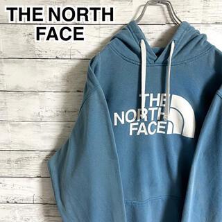ザノースフェイス(THE NORTH FACE)の【大人気】ザノースフェイス☆ビッグロゴ くすみブルー パーカー フーディ(パーカー)