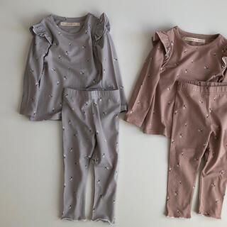 【人気】フリルルームウェア パジャマ 韓国子供服