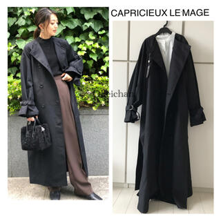 CAPRICIEUX LE'MAGE - 今季AW新作☆ノーカラートレンチコート ブラック