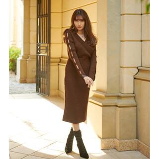 snidel - 新品 her lip to  Wrap-Effect Knit Dress
