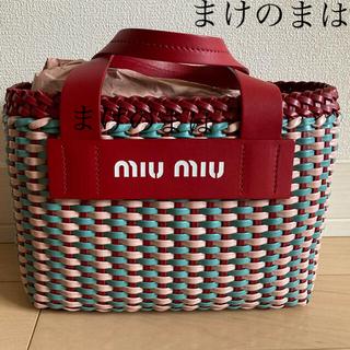 miumiu - ミュウミュウ 編み込み ハンドバッグ miu miu