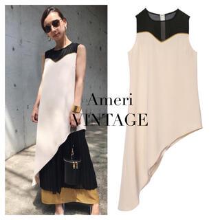 Ameri VINTAGE - AMERI SHEER DOCKING PLEATS DRESS