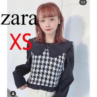 ZARA - ZARA タグ付き未使用 ピーターパン襟 コントラスト ブラウス