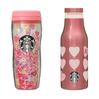 Starbucks Coffee - スターバックス 2021バレンタイン タンブラー ハート スタバ ピンク