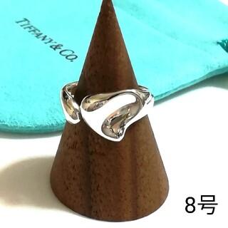 Tiffany & Co. - ティファニーカーブドハートリング 8号(美品)