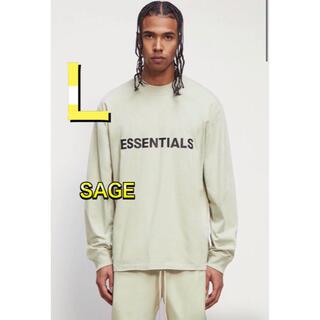 フィアオブゴッド(FEAR OF GOD)のFOG Essentials エッセンシャルズ ロンT SAGE グリーン L(Tシャツ/カットソー(七分/長袖))