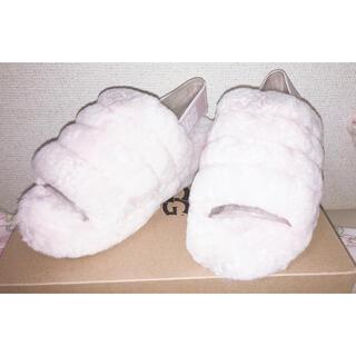 UGG - UGG アグ 新品 ピンク ふわふわ ストラップ サンダル 可愛い 22.5