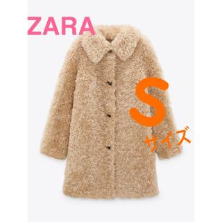 ZARA - 新品未使用タグ付 ZARA フェイクファーコート Sサイズ ベージュ