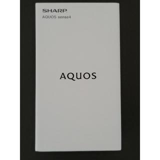 SHARP - 新品 SHARP AQUOS sense4 SH-M15 ブラック SIMフリー