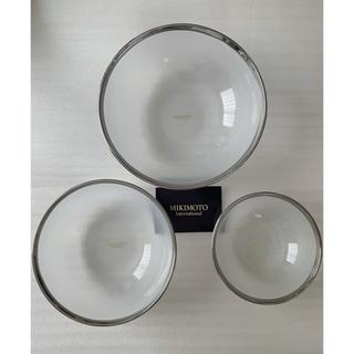 ミキモト(MIKIMOTO)のMIKIMOTO ミキモト ボウル 3枚 フロストガラスボウル(食器)