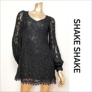 SHAKE SHAKE - SHAKE SHAKE レース ワンピース*デュラス ロイヤルパーティー