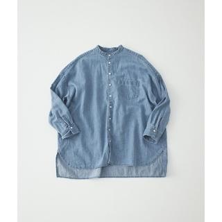 nest Robe - ネストローブ デニムバンドカラーシャツ