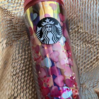 Starbucks Coffee - スターバックス★ バレンタイン2021ボトルホログラムハート355ml