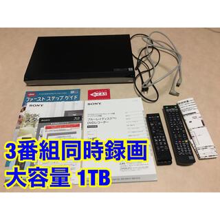 SONY - SONY 3番組同時録画 1TB ブルーレイレコーダー BDZ-ET1100