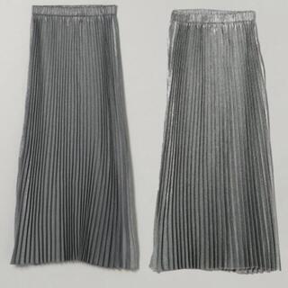 JEANASIS - 未使用品 リバーシブルシャンブレープリーツスカート JEANASIS