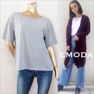 EMODA - EMODA RELAX WIDE Uネック Tシャツ♡ムルーア JEANASIS