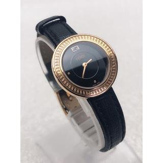 FENDI - T031 FENDI フェンディ 腕時計 動作品 黒文字盤 スイス製