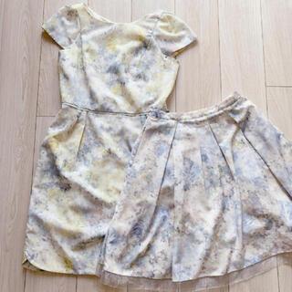 Apuweiser-riche - アプワイザーリッシェ♡NEWデジタルフラワーワンピース&スカート セット