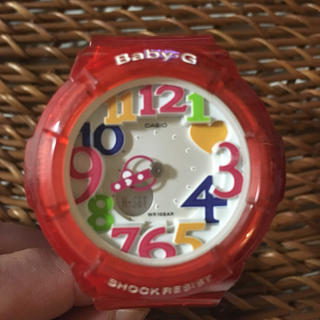 ベビージー(Baby-G)の♡baby-G レッド♡(腕時計)