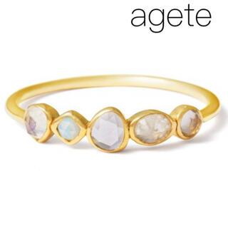 agete - ■現行品■【agete】K10 天然石リング/カラーストーン