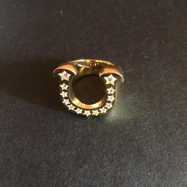 新品未使用!ホースシューリング ゴールド メンズのアクセサリー(リング(指輪))の商品写真