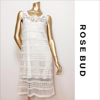 ROSE BUD - ROSE BUD 膝丈 ワンピース インナーキャミOP付き*リリーブラウン ザラ