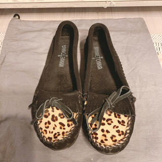 ミネトンカ(Minnetonka)のMINNETONKA ミネトンカ レオパード キルティ モック(ローファー/革靴)
