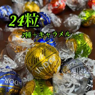 Lindt - リンツ リンドールチョコレート         (7種+キャラメル)