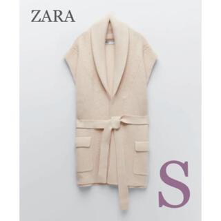 ZARA - 【新品・未使用】ZARA ベルト ニット ベスト S