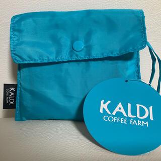 カルディ(KALDI)のカルディ エコバッグ ブルー 新品(エコバッグ)