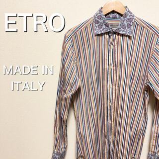 エトロ(ETRO)のETRO  エトロ ペイズリー柄ストライプシャツ(シャツ)