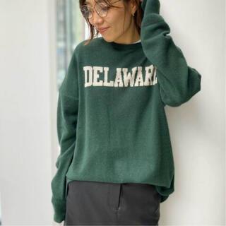 L'Appartement DEUXIEME CLASSE - GOOD GRIEF Logo Knit Pullover グリーン
