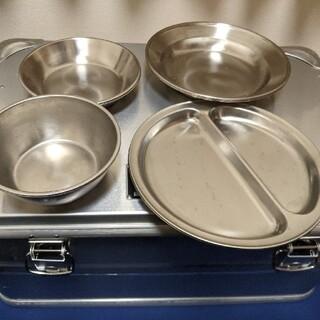 イケア(IKEA)のステンレス皿セット(食器)