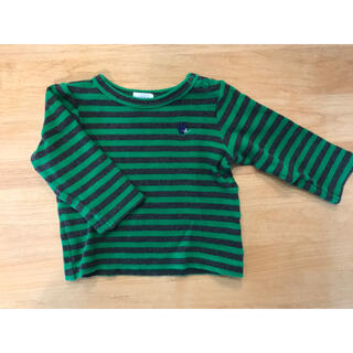 ハッカベビー(hakka baby)のハッカベビー 80㎝ ボーダー Tシャツ ロンT あったかい 秋冬(Tシャツ/カットソー)