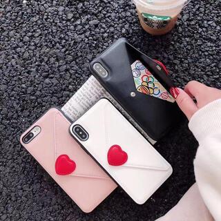 即日発送 大人気 ラブレター ハート カード入れiPhoneケース
