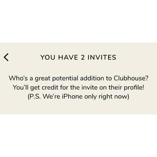 クラブハウス 招待コード