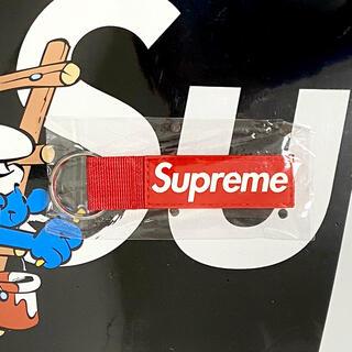 Supreme - 【レッド】Supreme Webbing Keychain