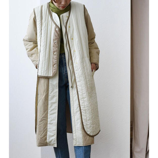 eimee law quilt gilet layered coat