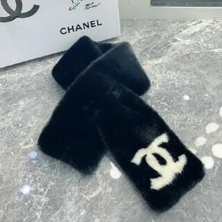 CHANEL - ..CHANEL スカーフ 黒
