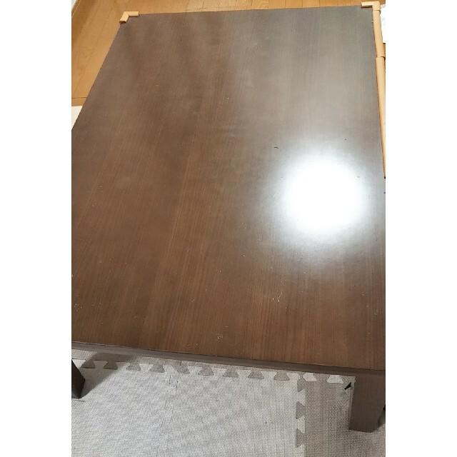 山善(ヤマゼン)のローテーブル デスク フラットコタツ兼用 インテリア/住まい/日用品の机/テーブル(こたつ)の商品写真