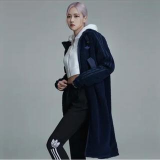 アディダス(adidas)のアディダス リバーシブル フリース ジャケット Mサイズ(ロングコート)