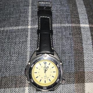 タイメックス(TIMEX)のTIMEX INDIGLO 100meter 電池新品、ベルト新品交換済❗️(腕時計(アナログ))